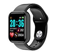 abordables -L18 Unisexe Smartwatch Montre Connectée Bluetooth Moniteur de Fréquence Cardiaque Mesure de la pression sanguine Suivi de distance Informations Contrôle de l'Appareil Photo Podomètre Rappel d'Appel