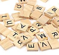 abordables -Tuiles de Scrabble Jouet en carton lettres majuscules simple Cadeau Interaction parent-enfant En bois Universel Classique & Intemporel 1 pcs Enfant Tous Jouet Cadeau