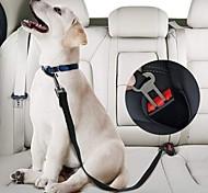 abordables -2 pcs ceinture de sécurité pour animaux de compagnie en nylon animaux de compagnie chien siège de chat laisse laisse harnais pour chiot chaton laisse de sécurité