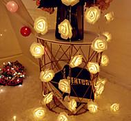 economico -1 m di luci con fili di fiori di rosa san valentino matrimonio casa compleanno evento festa ghirlanda luminaria alimentata a batteria