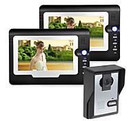 abordables -filaire 7 pouces mains libres 800 * 480 pixel interphone vidéo un à deux