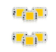 abordables -6 pcs cob led puce ac 220 v 30 w pas besoin de pilote intelligent ic led lampe ampoule pour bricolage projecteur éclairage par inondation
