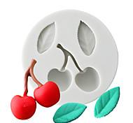 economico -muffa del cioccolato della ciliegia e della foglia muffa del silicone dell'argilla del fondente muffa della torta dello strumento di cottura domestica