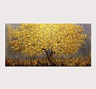 abordables -peinture à l'huile abstraite arbre doré 3d peint à la main sur toile texture palette peintures avec cadre étiré pour la décoration intérieure avec cadre étiré