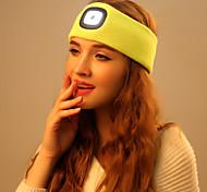 abordables -Bonnet LED avec lumière LED 4 Émetteurs avec Pile et Câble USB Portable Ajustable Durable Camping / Randonnée / Spéléologie Cyclisme Chasse USB Blanc Couleur de source Noir Jaune Rouge