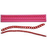 abordables -1 pcs cuisson diy liquide silicone long bracelet de perles modèle moule à gâteau