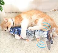 economico -Giochi morbidi Erba gatta Peluche Giochi con suono Giocattolo interattivo Pesce Flopping Pesciolino che ondeggia Giocattolo di pesce kicker gatto in movimento Giocattoli interattivi per gatti