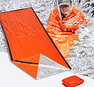 abordables -Couverture d'urgence Sac de Couchage d'Urgence De plein air Camping Rectangulaire Simple Synthétique Chaud Protection Anti-Radiation Retenant la chaleur Athermiques 213*91 cm Toutes les Saisons pour