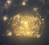 economico -5m Fili luminosi 50 LED 1pc Bianco caldo San Valentino Capodanno Feste Decorativo Vacanze Batterie AA alimentate