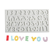 abordables -26 lettres majuscules; numéro moule à chocolat fondant gâteau moule en silicone outil de cuisson