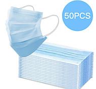 economico -50 pz maschera bocca usa e getta proteggere 3 strati filtro antipolvere antirumore maschere bocca non tessute