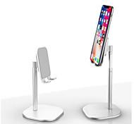 abordables -Accroche Support Téléphone Bureau iPad Téléphone Portable Tablette Support de bureau pour téléphone Ajustable Nouveau design Aluminium ABS Accessoire de Téléphone iPhone 12 11 Pro Xs Xs Max Xr X 8