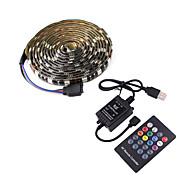 economico -1m Strisce luminose LED flessibili Set luci Strisce luminose RGB 30 LED SMD5050 10mm Music Sound Controller a 20 tasti 1 set Multicolore Impermeabile USB Auto-adesivo 5 V