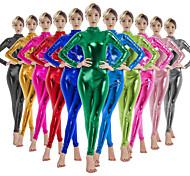 abordables -Combinaison Morphsuit Costume de Cosplay Combinaison-pantalon Adulte Latex Costumes de Cosplay Homme Femme Genre Halloween Carnaval Mascarade Couleur Pleine / Costume de peau