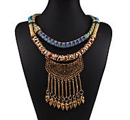 economico -Per donna Collane con ciondolo Intrecciato Fiore decorativo Di tendenza Cromo Oro 45+5 cm Collana Gioielli Per