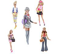 abordables -Accessoires de poupée Vêtements de Poupées Robe de poupée Vêtement Tulle Dentelle Tissus simple Créatif Kawaii Pour poupée de 11,5 pouces Jouet fait main pour les cadeaux d'anniversaire de fille
