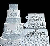abordables -gâteau moule de pulvérisation creux modèle ouest point décoration fleurs frontière moule bricolage
