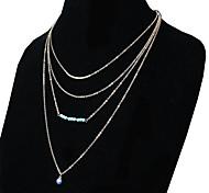 economico -Per donna Collane con ciondolo Classico Fiore decorativo Di tendenza Cromo Argento 50 cm Collana Gioielli Per