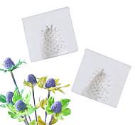 abordables -2 pcs Eryngium Fleur Coeur Motif Moule Fondant Gâteau Silicone Moule Outils De Cuisson À La Maison