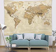 abordables -tapisserie murale art décor couverture rideau pique-nique nappe suspendu maison chambre salon dortoir décoration carte du monde topographie style parchemin