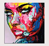 abordables -couteau à palette portrait pop art sur toile peinture à l'huile street art coloré peint à la main aall art photo roulé sans cadre