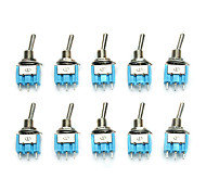 economico -10pcs mts-101 on / off ac 125v 6a 2 pin interruttore a bilanciere