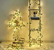 economico -5m Fili luminosi 50 LED Bianco caldo Natale Capodanno Creativo Feste Decorativo Batterie AA alimentate