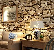 """abordables -Adhésif pour papier peint imitation pierre de roche requis 20 """"x 395"""" lt gris / brun"""