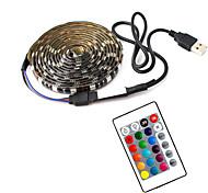 economico -1m Strisce luminose LED flessibili Strisce luminose RGB 30 LED SMD5050 10mm 1 telecomando da 24Keys 1 set Multicolore Impermeabile USB Auto-adesivo 5 V