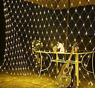 abordables -lumières de filet menées en plein air guirlande lumineuse décoration de mariage étanche 1.5mx1.5m jardin patio arbre fée rideau flexible guirlande lumineuse festival de vacances en plein air lampe de