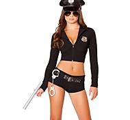 economico -Poliziotto / Poliziotta Uniformi Per adulto Per donna Pantalone Completi Per Tactel Mascherata Pantaloni Costumi Zentai