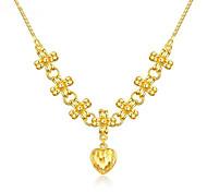 economico -Per donna Collane con ciondolo Classico Fiore decorativo Di tendenza Ottone Oro 45 cm Collana Gioielli Per Da sera Festival