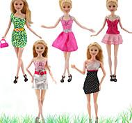 abordables -Accessoires de poupée Vêtements de Poupées Robe de poupée Jupe Tulle Dentelle Tissus simple Créatif Kawaii Pour poupée de 11,5 pouces Jouet fait main pour les cadeaux d'anniversaire de fille Poupée