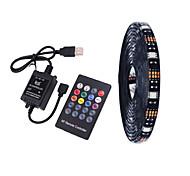 economico -4m Strisce luminose LED flessibili Set luci Strisce luminose RGB 120 LED SMD5050 10mm Music Sound Controller a 20 tasti 1 set Multicolore Impermeabile USB Auto-adesivo 5 V