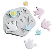 economico -pace piccione sole uccello amore felicità uccello muffa fondente torta stampo in silicone strumento di cottura