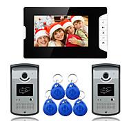 abordables -filaire 7 pouces mains libres 800 * 480 pixel interphone vidéo deux à un