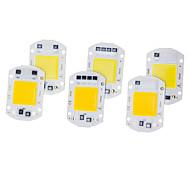 abordables -6 pcs LED épi puce 20 w 220 v intelligent ic pas besoin de pilote led ampoule lampe pour projecteur d'éclairage bricolage éclairage