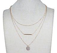 economico -Per donna Collane con ciondolo Classico Fiore decorativo Di tendenza Cromo Oro 50 cm Collana Gioielli Per