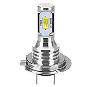 abordables -1 pcs H7 80 W Canbus LED Phares De Voiture Ampoules Auto Lumières Automobile Conduite Antibrouillard Lampe 2LEDS SMD 3570 CSP Antibrouillard