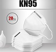 abordables -20 pcs KN95 Masque Respirateur Protection Tissu non-tissé Meltblown Haute Qualité Homme Femme Blanche / Efficacité de filtration (PFE)> 95%