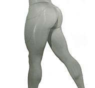 abordables -Femme Sports Yoga Sportif Basique Legging Couleur Pleine Imprimé Taille médiale Noir Bleu Rouge S M L / Slim