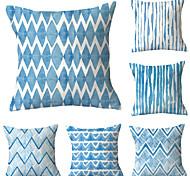 abordables -6 pcs jet oreiller simple classique 45 * 45 cm coussin vintage cercle couverture canapé décor à la maison jet taie d'oreiller