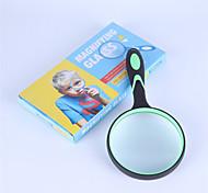 abordables -loupe portable 10x oculaire de loupe de poignée en caoutchouc de 100 mm