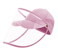 economico -protezione berretto da baseball full face cappello trasparente isolante casco respiratore sputo sicurezza lavoro protezione berretto anti polvere anti vento polvere regolabile amovibile rosa