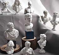 economico -10 pezzi / set schizzo testa statua gesso busto mini statua gesso schizzo disegno a tratteggio insegnamento resina arte artigianato display