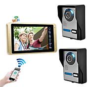abordables -câblé& amp; sans fil 7 pouces mains libres 1024 * 600 pixel interphone vidéo deux à un