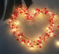 economico -5m Fili luminosi 50 LED Bianco caldo San Valentino Natale Nuovo design Decorativo Vacanze Batterie AA alimentate