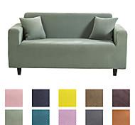 abordables -Housse de canapé Couleur Pleine Teinture Mélange polyester / coton Literie
