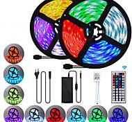 abordables -2x5M bandes lumineuses LED Ruban LED Flexibles Ensemble de Luminaires Barrette d'Eclairage RGB 600 LED SMD5050 10mm 1 44Keys Télécommande 1 adaptateur secteur 10A 1 set Plusieurs Couleurs Imperméable