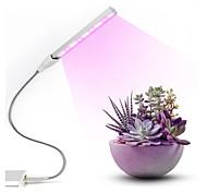 abordables -1 pcs LED élèvent la lumière USB DC 5 V Fitolampy pour les plantes rouge bleu LED plante élèvent des lampes à lumière à spectre complet LED élèvent des ampoules Phytolamp
